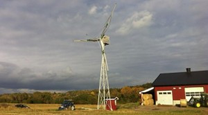 Assembled and erected turbine ready for startup.